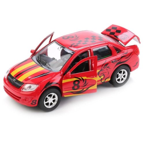 Легковой автомобиль ТЕХНОПАРК Lada Granta Sport (SB-16-41-S-WB) 12 см красный машины технопарк машина lada granta полиция