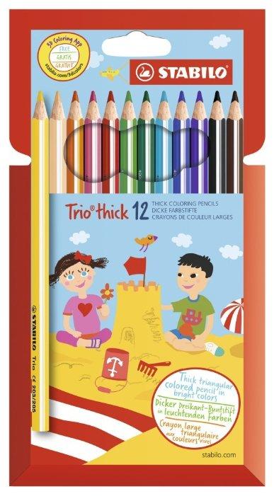 STABILO Цветные карандаши Trio thick 12 цветов (203/12-01)