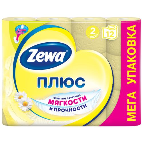 Туалетная бумага Zewa Плюс Ромашка двухслойная, 12 рул.Туалетная бумага и полотенца<br>