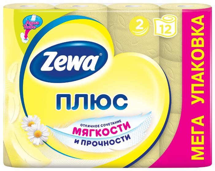 Туалетная бумага Zewa Плюс Ромашка двухслойная, 4 рул.