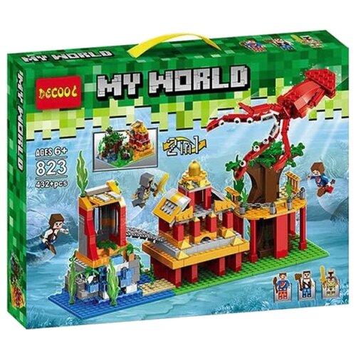 Купить Конструктор Jisi bricks (Decool) My World 823 Подводный мир, Конструкторы