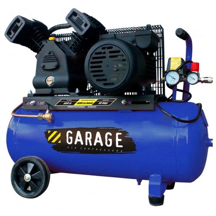 Компрессор масляный Garage PK 100.MBV400/2.2, 100 л, 2.2 кВт