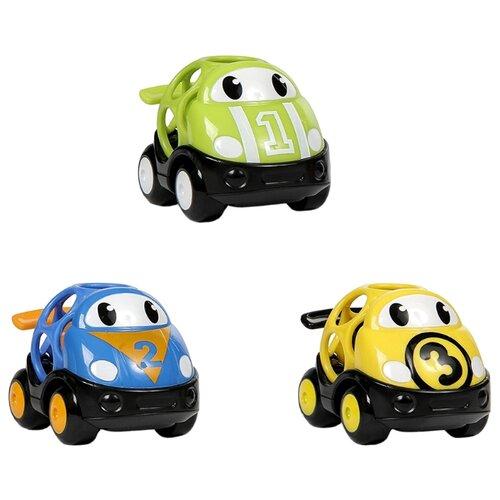 Набор машин Oball Только Вперед! (10864) 9 см желтый/зеленый/синийМашинки и техника<br>