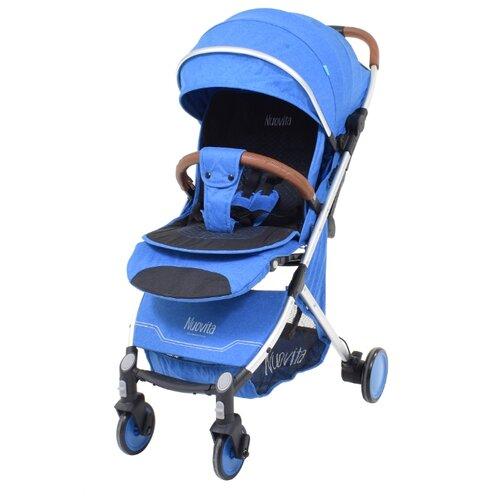 Прогулочная коляска Nuovita Giro blu argento, цвет шасси: серебристый