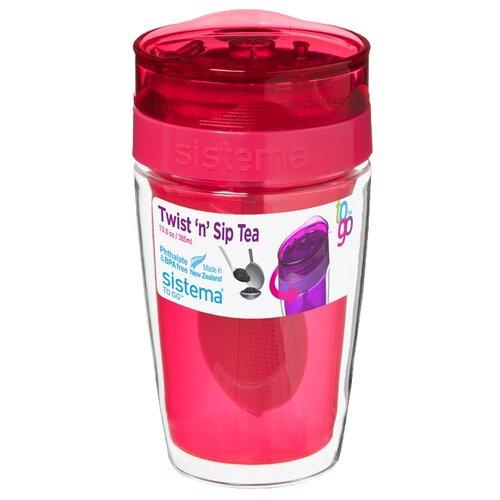 Термокружка Sistema Twist'n'Sip Tea To Go, 0.37 л pink