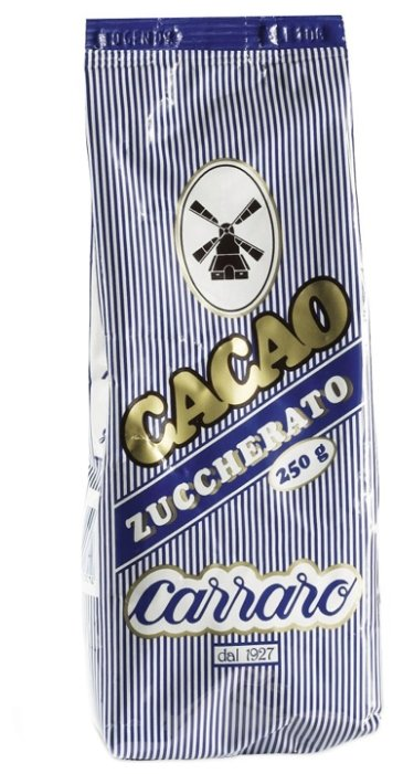 Carraro Sugar Cocoa Zuccherato Какао-напиток растворимый, пакет