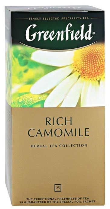 Чайный напиток травяной Greenfield Rich Camomile в пакетиках, 25 шт.