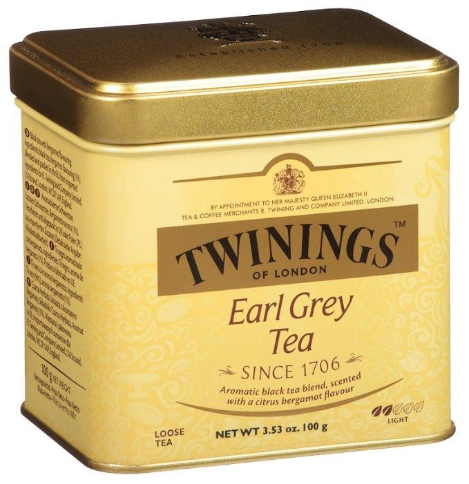 Twinings Earl Grey с бергамотом черный чай жб 100 г