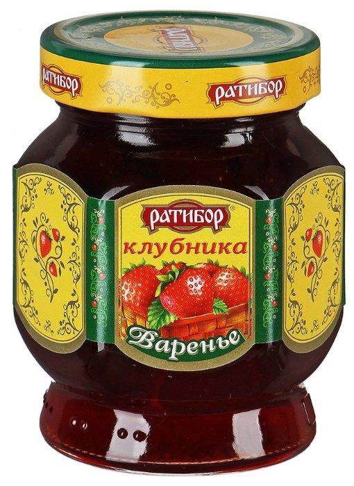 Варенье Ратибор клубника, банка 400 г