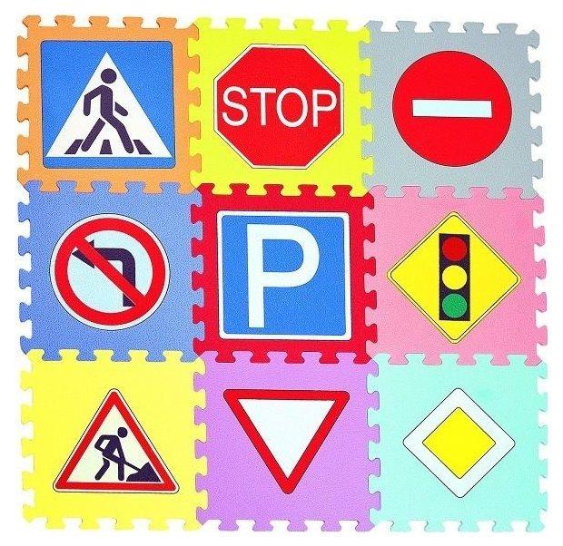 Коврик-пазл MD Дорожные знаки (MDP-30309)