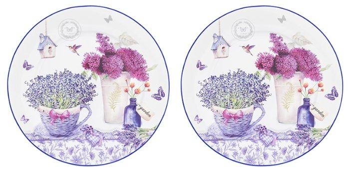 Elan gallery Набор круглых тарелок Лаванда 26 см, 2 шт
