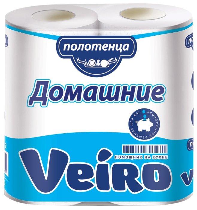 Полотенца бумажные Veiro Домашние белые двухслойные
