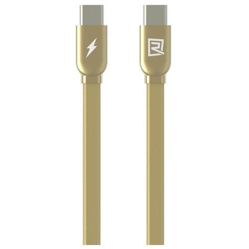 Кабель Remax USB Type-C - USB Type-C (RC-046a) 1 м золотой кабель remax chips желтый