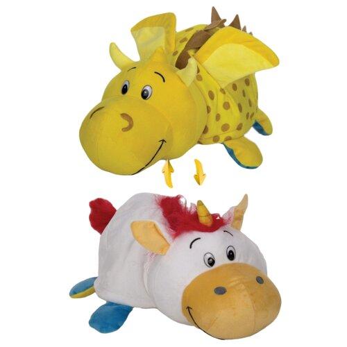 Купить Мягкая игрушка 1 TOY Вывернушка Единорог-Золотой дракон 20 см, Мягкие игрушки
