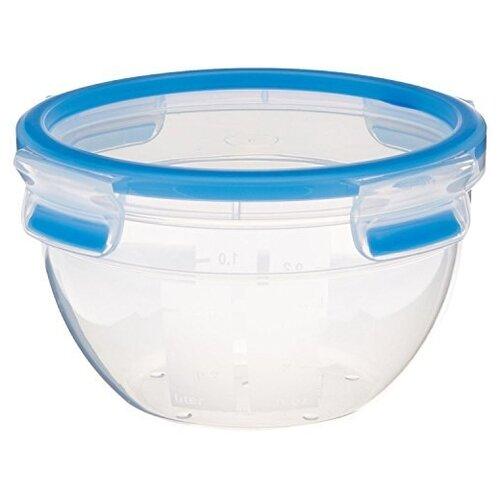 EMSA Контейнер CLIP & CLOSE круглый 518096 синий/прозрачный emsa контейнер optima 513555 белый прозрачный