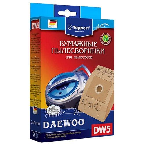 Фото - Topperr Бумажные пылесборники DW5 5 шт. topperr бумажные пылесборники sm5 5 шт