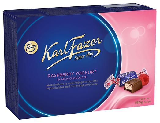 Набор конфет Fazer Karl Fazer из молочного шоколада с малиновым йогуртом 150 г