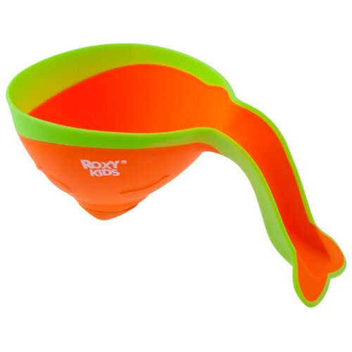 Ковшик для ванны Roxy kids Flipper RBS-004 с лейкой оранжевый/желтый
