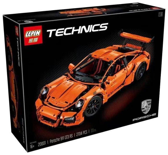 Конструктор Lepin (King, Queen) Technican 20001 Porsche 911 GT3 RS orange