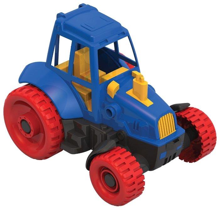 Трактор Нордпласт 047 23 см красный/синий