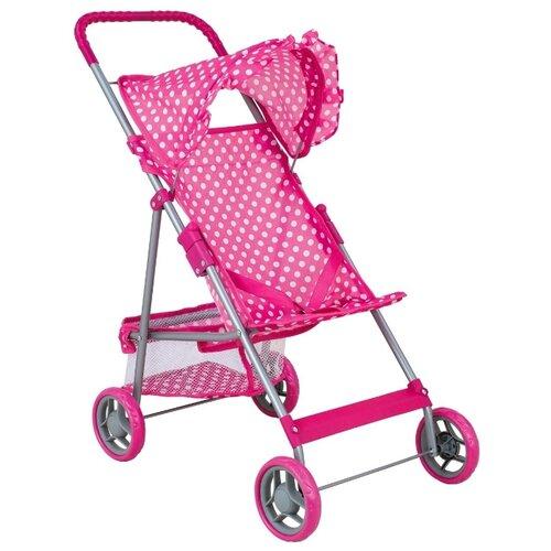Купить Прогулочная коляска Buggy Boom Mixy (8008) розовый/горошек, Коляски для кукол