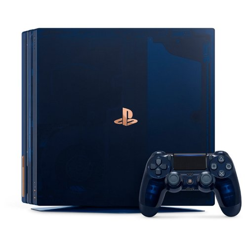 Игровая приставка Sony PlayStation 4 Pro 2 ТБ 500 Million Limited Edition, синий,