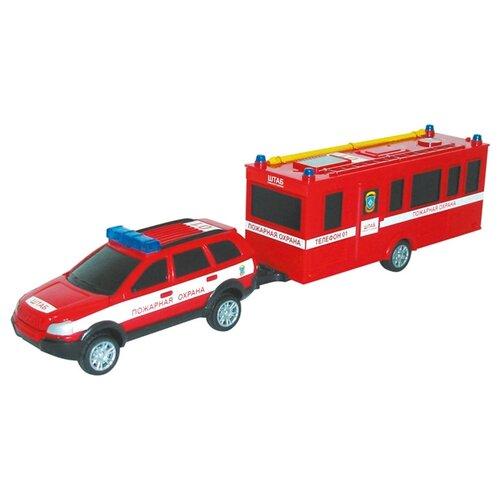 Пожарный автомобиль Autotime (Autogrand) Command Centre c прицепом (34200) 1:32 красный