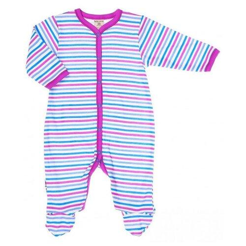 Купить Комбинезон lucky child размер 18 (56-62), молочный/розовый/бирюзовый, Комбинезоны