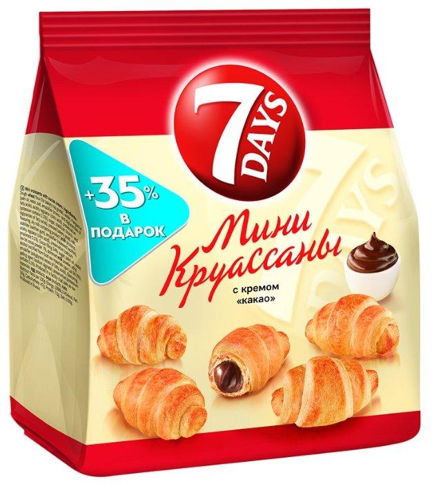 7DAYS Мини круассаны с кремом какао 105 г