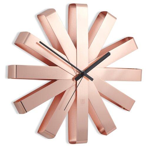 Часы настенные кварцевые Umbra RIBBON медь часы настенные station umbra