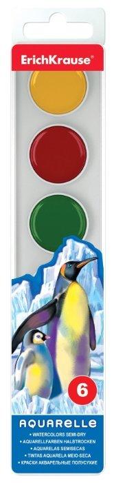 ErichKrause Акварельные краски 6 цветов, без кисти (35127)