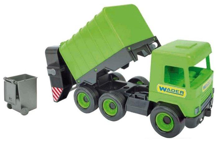 Мусоровоз Wader Middle Truck (39484) зеленый