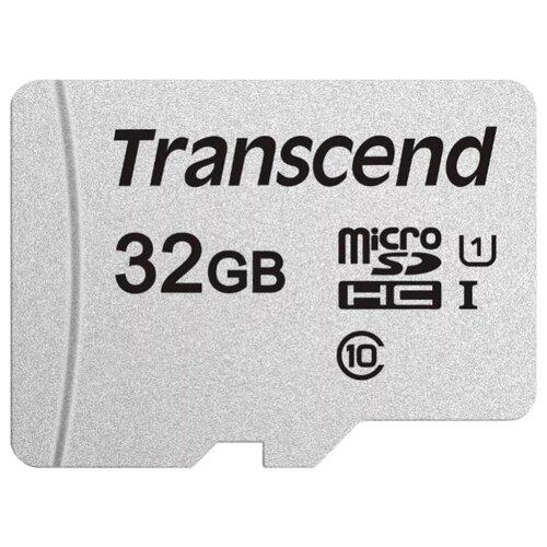 Фото - Карта памяти Transcend microSDHC 300S Class 10 UHS-I U1 32GB + SD adapter (TS32GUSD300S-A) карта памяти 32gb transcend high capacity class 10 secure digital ts32gsdhc10