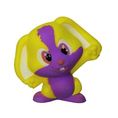 Игрушка-мялка 1 TOY Зайчик Т12422 фиолетово-желтыйИгрушки-антистресс<br>