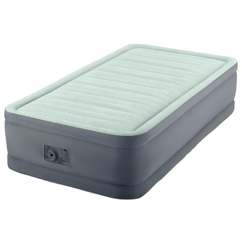 Фото - Надувная кровать Intex PremAire Elevated Airbed (64902) светло-темно-серый надувной матрас intex mid rice airbed 64116 светло темно серый