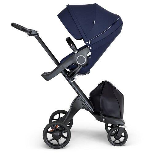 Купить Прогулочная коляска Stokke Xplory V6 blue/black/black, цвет шасси: черный, Коляски