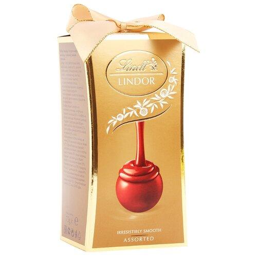 Набор конфет Lindt Lindor Ассорти 75 г золотойКонфеты в коробках, подарочные наборы<br>