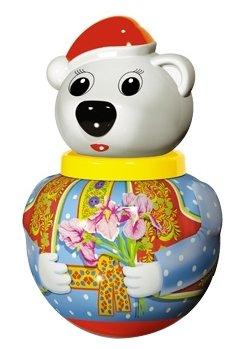 Неваляшка Стеллар Белый медведь Тёма, упаковка пакет (01739) 18 см