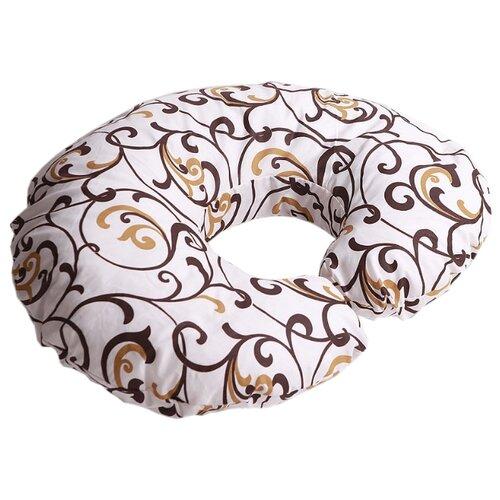 Наволочка Body Pillow на подушку для кормления Рогалик бежево-золотой