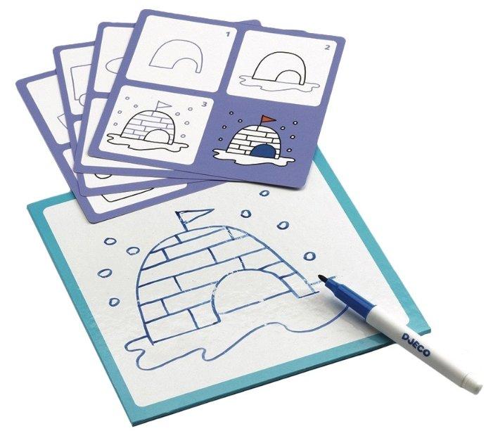 Доска для рисования детская DJECO Примо с карточками (08323)