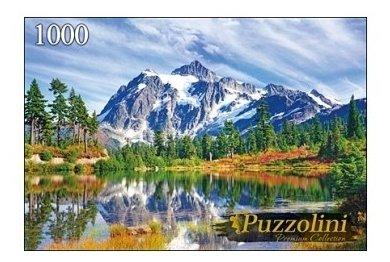 Пазл Рыжий кот Puzzolini Озеро у снежных гор (GIPZ1000-7725), 1000 дет.