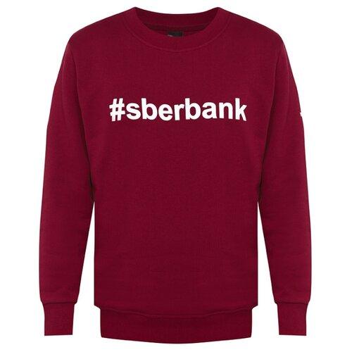 Свитшот #sberbank мужской размер 54, бордоОдежда и аксессуары<br>