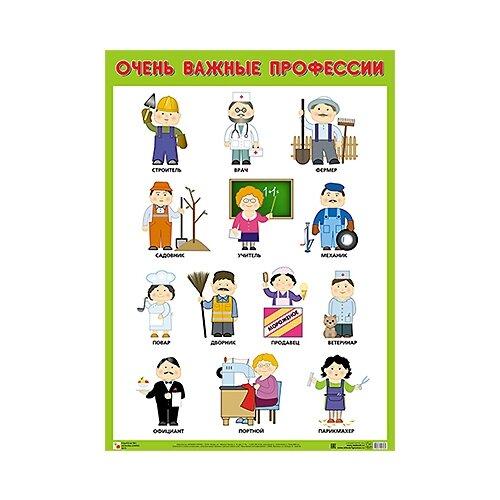 Плакат Мозаика-Синтез Очень важные профессии