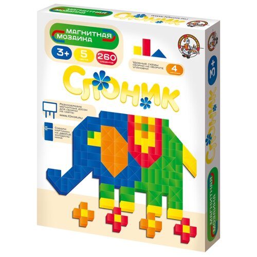 Купить Десятое королевство Магнитная мозаика Слоник (01653), Мозаика