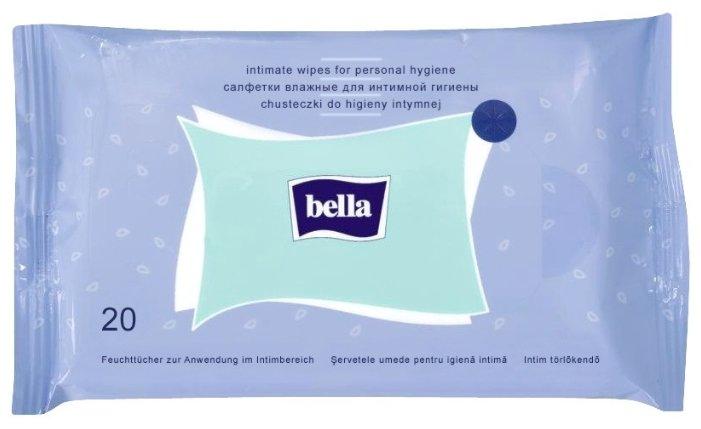 Bella Влажные салфетки для интимной гигиены, 20 шт