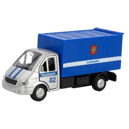 цена на Грузовик ТЕХНОПАРК ГАЗель Полиция (SB-16-42-K2-WB) 12 см синий/серебристый
