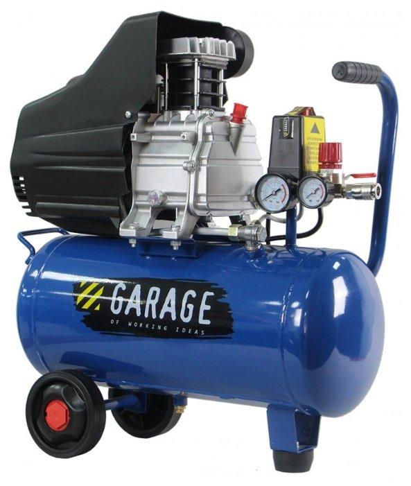 Компрессор масляный Garage PK 40.F250/1.5, 40 л, 1.5 кВт
