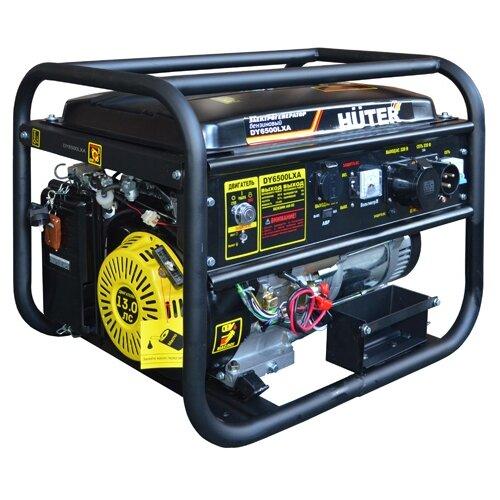 Бензиновый генератор Huter DY6500LXA (5000 Вт) газо бензиновый генератор huter dy4000lg 3000 вт