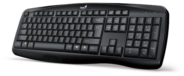Клавиатура Genius KB-128 Black USB+PS/2