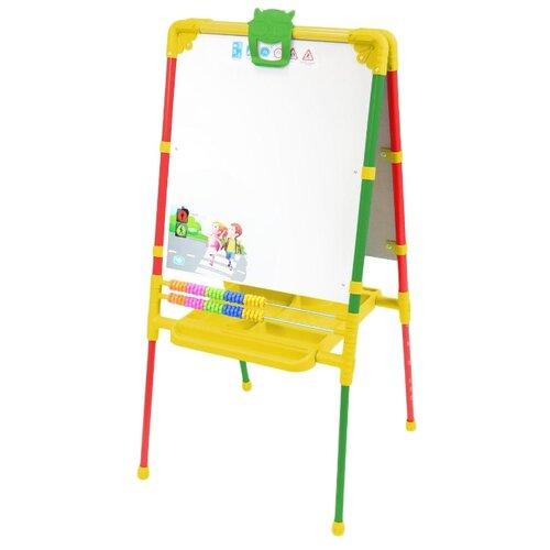 Мольберт детский Nika двусторонний Растущий (М2) красный/зеленый/желтый, Доски и мольберты  - купить со скидкой